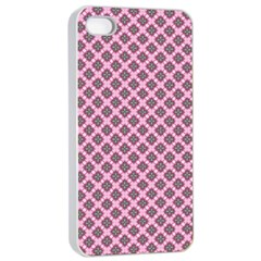 Cute Pretty Elegant Pattern Apple Iphone 4/4s Seamless Case (white) by creativemom
