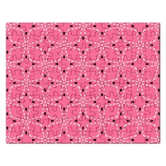 Cute Pretty Elegant Pattern Rectangular Jigsaw Puzzl by creativemom