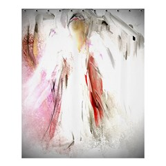 Abstract Angel In White Shower Curtain 60  X 72  (medium)