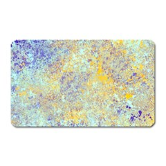 Abstract Earth Tones With Blue  Magnet (rectangular) by digitaldivadesigns