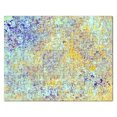 Abstract Earth Tones With Blue  Rectangular Jigsaw Puzzl by digitaldivadesigns