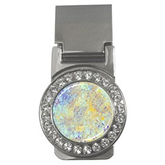 Abstract Earth Tones With Blue  Money Clips (cz)