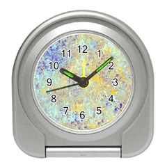 Abstract Earth Tones With Blue  Travel Alarm Clocks