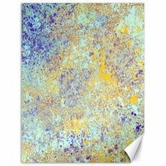 Abstract Earth Tones With Blue  Canvas 18  X 24   by digitaldivadesigns