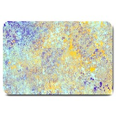Abstract Earth Tones With Blue  Large Doormat  by digitaldivadesigns
