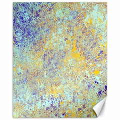 Abstract Earth Tones With Blue  Canvas 11  X 14   by digitaldivadesigns