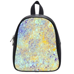 Abstract Earth Tones With Blue  School Bags (small)