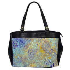 Abstract Earth Tones With Blue  Office Handbags