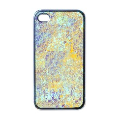 Abstract Earth Tones With Blue  Apple Iphone 4 Case (black) by digitaldivadesigns