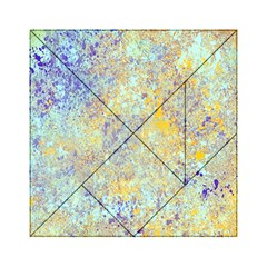 Abstract Earth Tones With Blue  Acrylic Tangram Puzzle (6  X 6 ) by digitaldivadesigns