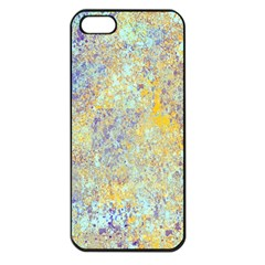 Abstract Earth Tones With Blue  Apple Iphone 5 Seamless Case (black) by digitaldivadesigns