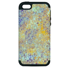 Abstract Earth Tones With Blue  Apple Iphone 5 Hardshell Case (pc+silicone)