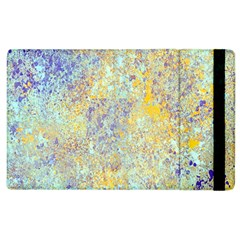 Abstract Earth Tones With Blue  Apple Ipad 3/4 Flip Case by digitaldivadesigns