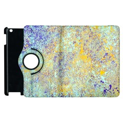 Abstract Earth Tones With Blue  Apple Ipad 3/4 Flip 360 Case by digitaldivadesigns