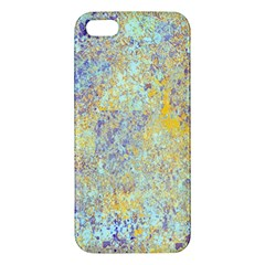 Abstract Earth Tones With Blue  Apple Iphone 5 Premium Hardshell Case