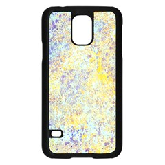 Abstract Earth Tones With Blue  Samsung Galaxy S5 Case (black)