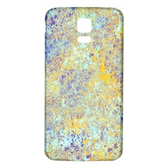 Abstract Earth Tones With Blue  Samsung Galaxy S5 Back Case (white) by digitaldivadesigns
