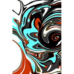 Abstract In Aqua, Orange, And Black 5 5  X 8 5  Notebooks by digitaldivadesigns