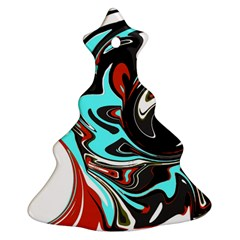 Abstract In Aqua, Orange, And Black Ornament (christmas Tree)