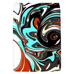 Abstract In Aqua, Orange, And Black Flap Covers (s)  by digitaldivadesigns