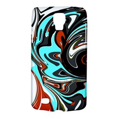Abstract In Aqua, Orange, And Black Galaxy S4 Active by digitaldivadesigns