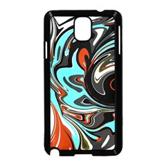 Abstract In Aqua, Orange, And Black Samsung Galaxy Note 3 Neo Hardshell Case (black) by digitaldivadesigns