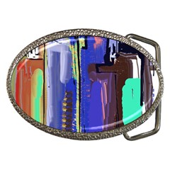 Abstract City Design Belt Buckles