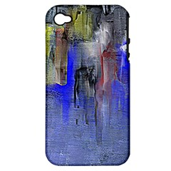 Hazy City Abstract Design Apple Iphone 4/4s Hardshell Case (pc+silicone) by digitaldivadesigns