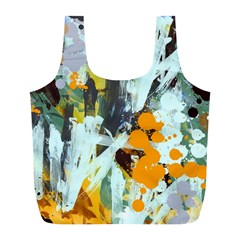 Abstract Country Garden Full Print Recycle Bags (l)  by digitaldivadesigns