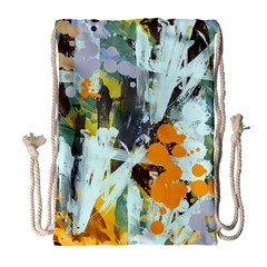 Abstract Country Garden Drawstring Bag (large)