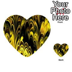 Fractal Marbled 15 Multi Purpose Cards (heart)