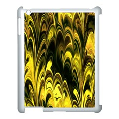 Fractal Marbled 15 Apple Ipad 3/4 Case (white) by ImpressiveMoments