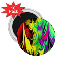 Fractal Marbled 14 2 25  Magnets (10 Pack)  by ImpressiveMoments