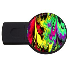 Fractal Marbled 14 Usb Flash Drive Round (4 Gb)  by ImpressiveMoments
