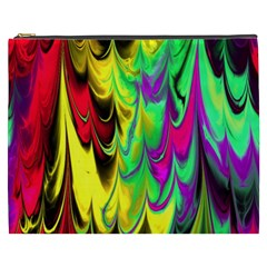 Fractal Marbled 14 Cosmetic Bag (xxxl)