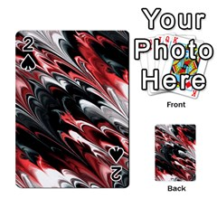 Fractal Marbled 8 Playing Cards 54 Designs