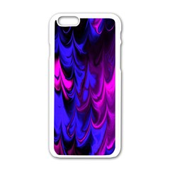 Fractal Marbled 13 Apple Iphone 6 White Enamel Case