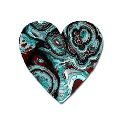 Fractal Marbled 05 Heart Magnet by ImpressiveMoments