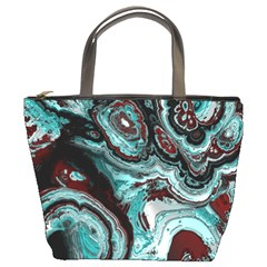 Fractal Marbled 05 Bucket Bags by ImpressiveMoments