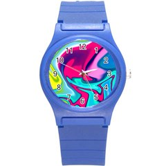 Fluid Art 22 Round Plastic Sport Watch (s) by ImpressiveMoments