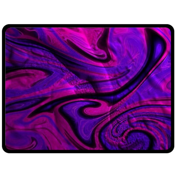 Wet Wallpaper, Pink Double Sided Fleece Blanket (Large)