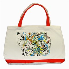 Abstract Fun Design Classic Tote Bag (red)  by digitaldivadesigns