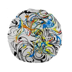 Abstract Fun Design Standard 15  Premium Round Cushions by digitaldivadesigns