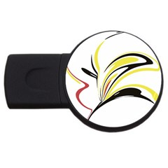 Abstract Flower Design Usb Flash Drive Round (4 Gb)  by digitaldivadesigns