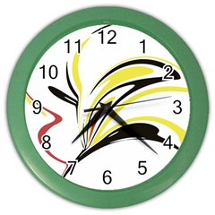 Abstract Flower Design Color Wall Clocks by digitaldivadesigns
