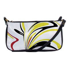Abstract Flower Design Shoulder Clutch Bags by digitaldivadesigns