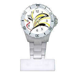 Abstract Flower Design Nurses Watches