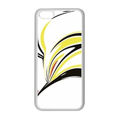 Abstract Flower Design Apple Iphone 5c Seamless Case (white) by digitaldivadesigns