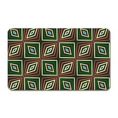 Rhombus Flowers Pattern Magnet (rectangular)