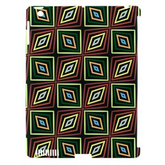 Rhombus Flowers Pattern Apple Ipad 3/4 Hardshell Case (compatible With Smart Cover) by LalyLauraFLM